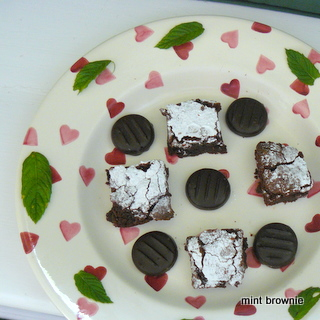 Plate of Chocolate Mint Brownies