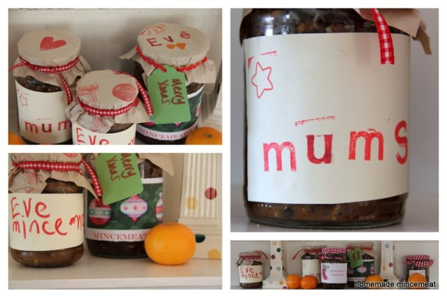 Collage of mincemeat jars