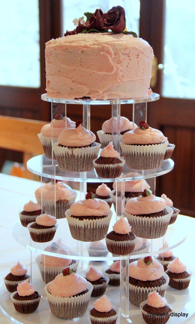 Chocolate cupcake display